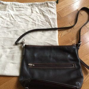 ROOTS Leather Cross-Body Bag with Adjustable Strap